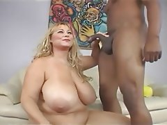 BBW Big Boobs Big Butts Blonde Interracial