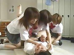 Femdom Gangbang Group Sex Japanese Strapon