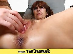 Mature MILF Granny Hairy Close Up