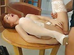 Cumshot Mature Redhead Nurse