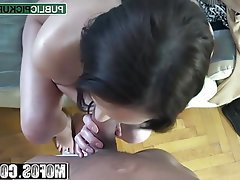 Amateur Blowjob Brunette Cumshot Handjob