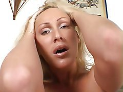 nice blond MILF hard dp