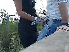 Outdoor Amateur Brunette Italian Blowjob
