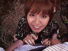 Blowjob Brunette Outdoor Japanese Asian