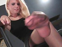 Blonde Stockings Foot Fetish