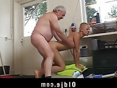 Blonde Blowjob Old and Young Teen