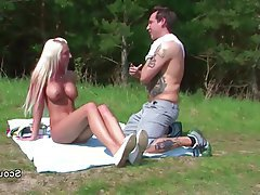German Hardcore Old and Young Outdoor Teen